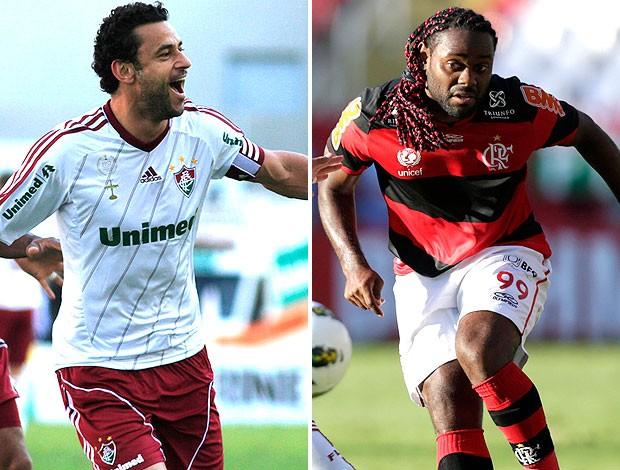 montagem Fred Vagner Love Flamengo x Fluminense (Foto: Editoria de Arte / Globoesporte.com)