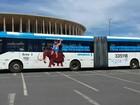 Ônibus de transporte público do DF são 'enfeitados' para Novembro Azul