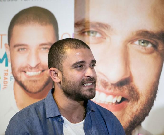 Diogo Nogueira no lançamento do novo disco (Foto: Isabella Pinheiro/Gshow)