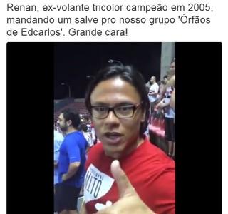 Renan Portuguesa São Paulo Trujillanos Morumbi (Foto: Reprodução/Twitter)