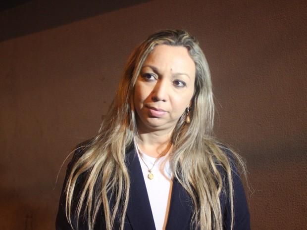Andréa Magalhães, presidente do Sindicato dos Policiais Civis do Piauí (Foto: Ellyo Teixeira/G1)