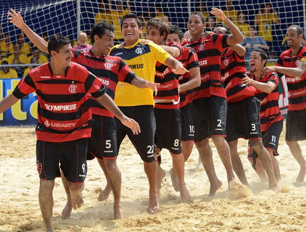 Flamengo Futebol de areia (Foto: Agência Estado)