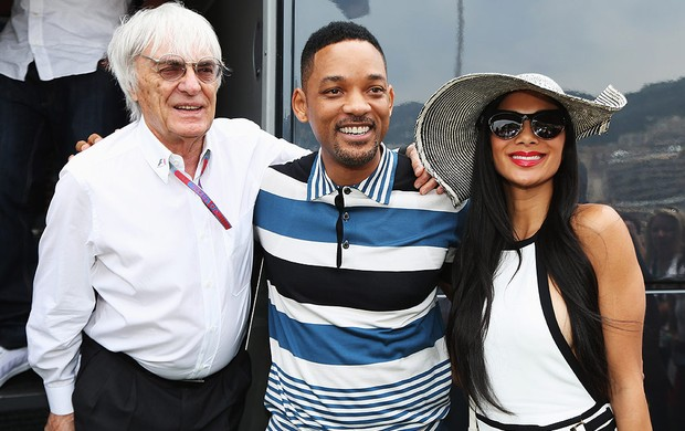 GP de Mônaco, F1, Ecclestone, Will Smith e NicoleScherzinger (Foto: Agência Getty Images)