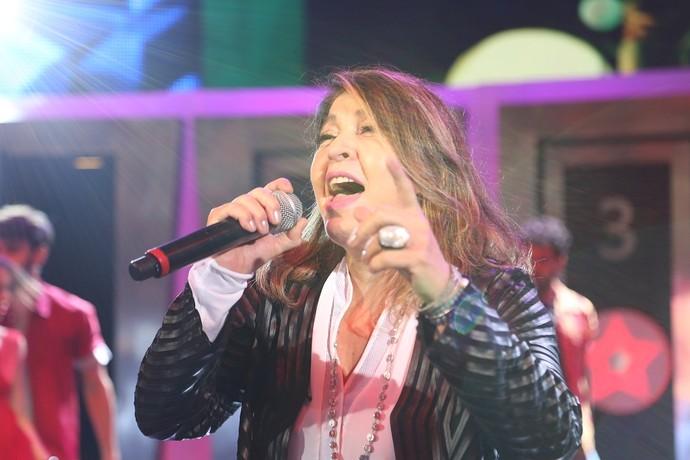 Roberta Miranda no palco do 'Domingão do Faustão' (Foto: Carol Caminha/Gshow)