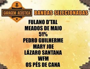 Divulgada a lista de bandas selecionadas no Garagem Acústica (Foto: TV Sergipe)