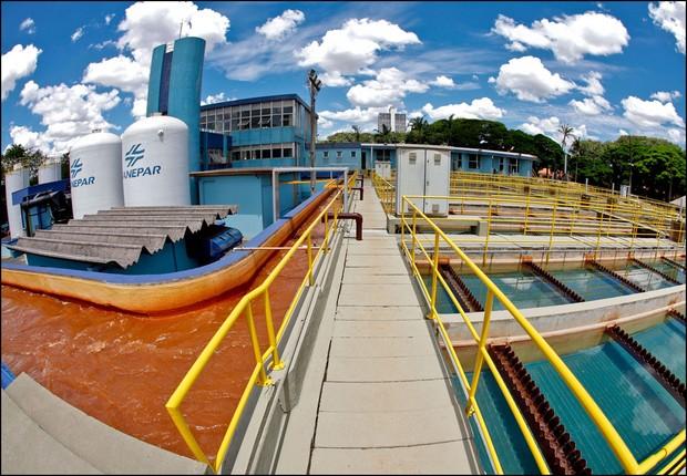 Instalações de unidade de tratamento de água da Sanepar (Foto: Divulgação)