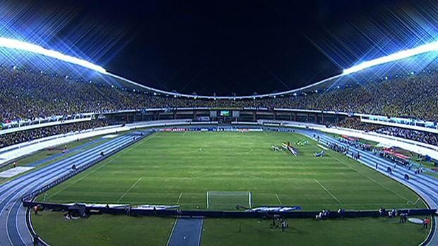 Estádio Mangueirão lotado para jogo do Brasil (Foto: Reprodução SporTV)