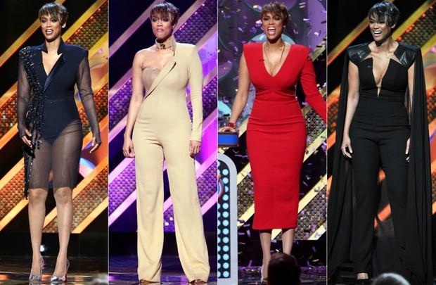 Tyra Banks faz quatro trocas de roupa no Daytime Emmy Awards (Foto: Getty Images)
