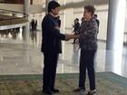Em visita oficial ao Brasil, Evo Morales é recebido por Dilma no Planalto