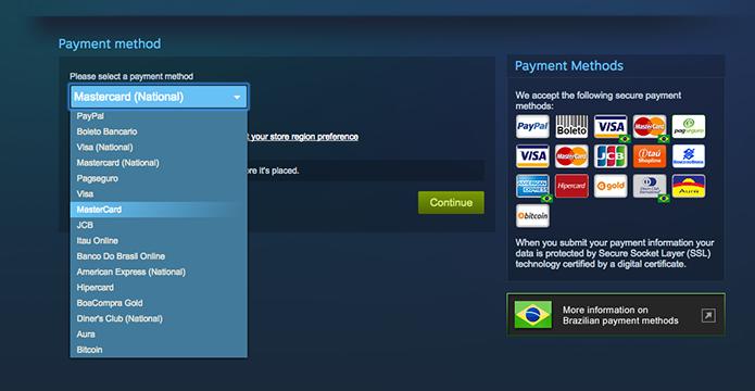 Efetue o pagamento de Call of Duty: Modern Warfare 3 no Steam (Foto: Reprodução/Murilo Molina)