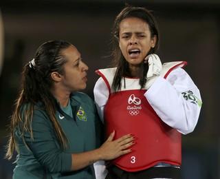 Julia Vasconcelos Dos Santos perde para finlandesa Suvi Mikkonen; Taekwondo;  (Foto: REUTERS/Issei Kato)