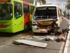 Ônibus desgovernado mata casal na Avenida Maranhão (Renan Nunes/TV Clube)