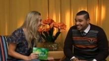 Naty Graciano entrevista Naldo (Foto: Reprodução / TV TEM)