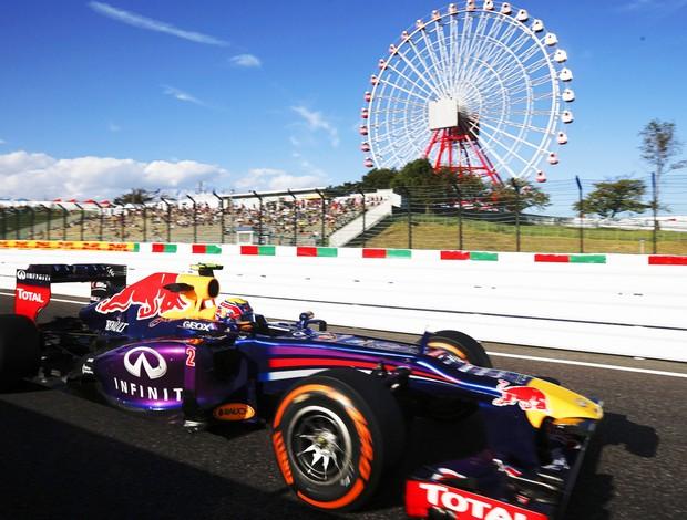 F1 Japão Red Bull Mark Webber (Foto: EFE )