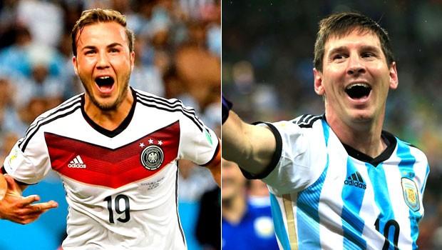 montagem alemanha e argentina (Foto: Reuters/Agência AFP)