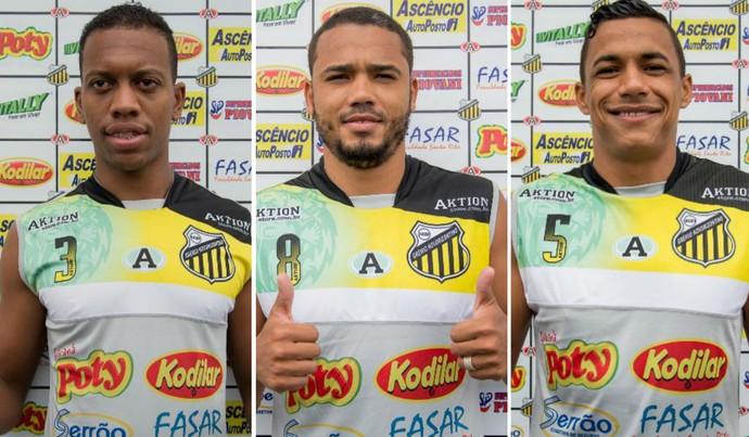 Luiz Gustavo, Adriano, Arnaldo, Novorizontino, reforços, Paulistão 2016 (Foto: William Lima / Novorizontino)