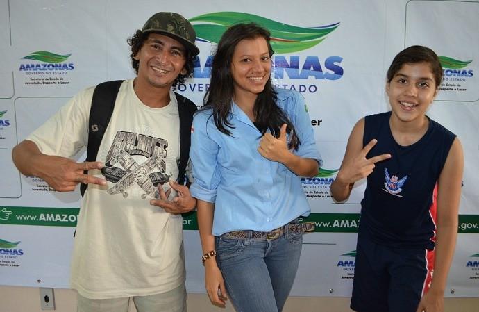 Skate Amazonas Jéssica e Catarina (Foto: Emanuel Mendes Siqueira/Sejel)