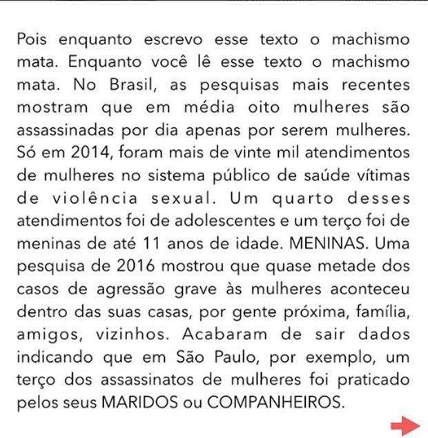 Fernanda Lima se pronuncia nas redes sociais sobre machismo (Foto: Reprodução / Instagram)