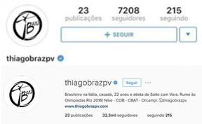 Instagram de Thiago Braz (Foto: Instagram/ Reprodução)
