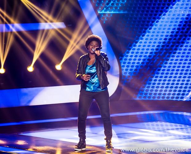 Nene Oliveira é a última candidata a se apresentar no último dia de Audições  (Foto: Isabella Pinheiro/TV Globo)