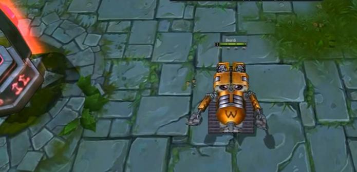 Personagem de sucesso da Pixar, Wall E figura no jogo 300 Heroes, cópia descarada do sucesso League of Legends (Foto: Divulgação)