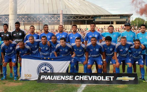 Equipe Parnahyba campeã Piauiense 2013 (Foto: Náyra Macêdo/GLOBOESPORTE.COM)