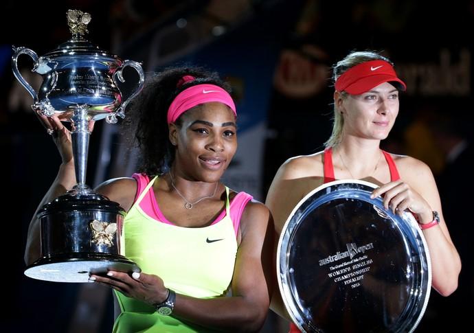 Serena x Sharapova Aberto da Austrália (Foto: AP Photo/Rob Griffith)
