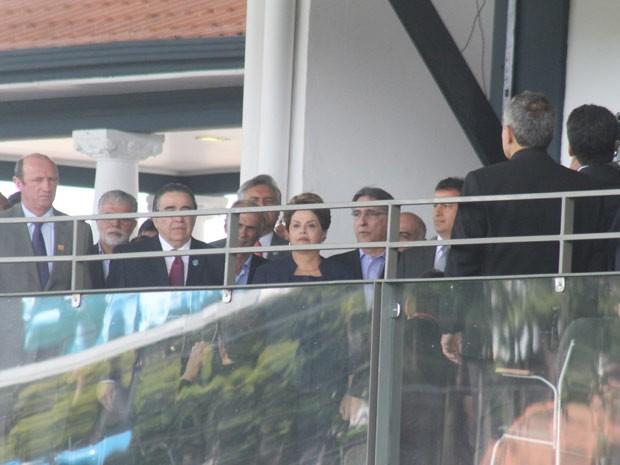 A presidente Dilma Rousseff na cerimônia de abertura da 80ª Exposição Internacional de Gado Zebu, a ExpoZebu 2014 (Foto: Enerson Cleiton/Arquivo pessoal)