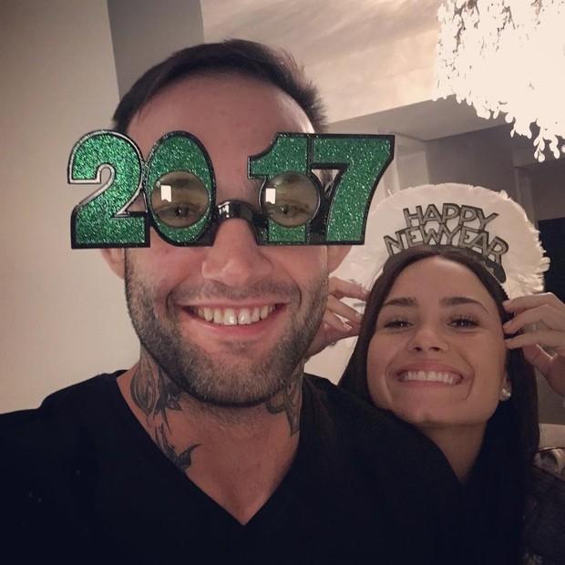 Demi Lovato e namorado brasileiro  (Foto: Reprodução Instagram )