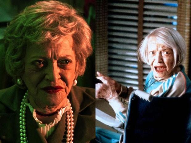 Sylvia Sydney em 'Os fantasmas se divertem' e 'Marte ataca!' (Foto: Divulgação)