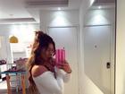 Thaís Bianca impressiona ao mostrar coxas grossas com body cavado