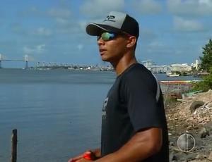 Gabriel Patrício remador (Foto: Reprodução/Inter TV Cabugi)