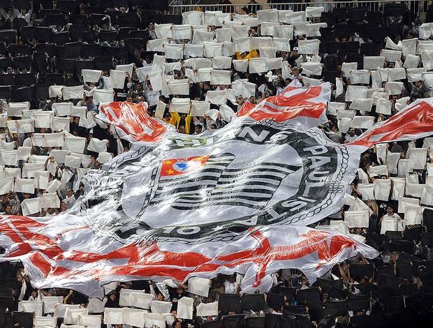 Torcida, Corinthians x Santos (Foto: Marcos Ribolli  / Globoesporte.com)