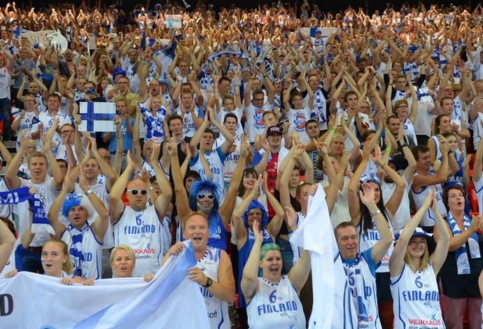 Finlândia torcida (Foto: Divulgação/FIBA)