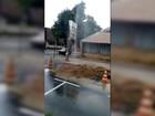 Internauta flagra desperdício de água no Centro de Timóteo, MG