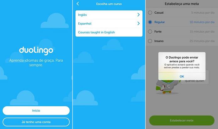 Duolingo é simples de usar (Foto: Reprodução/Thiago Barros)