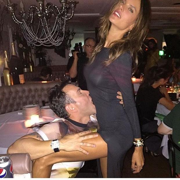 Mattheus Mazzafera com Alessandra Ambrósio (Foto: Reprodução/Instagram)