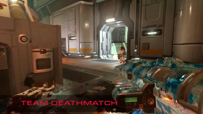 Team Deathmatch traz a tradicional competição entre times sem maiores complicações para Doom (Foto: Reprodução/YouTube)