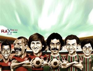 Só craque: escale o Flamengo ou o Fluminense de todos os tempos (Editoria de Arte / Globoesporte.com)