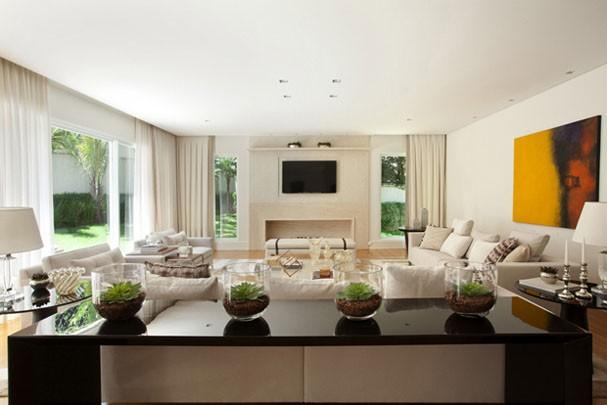 Casa com decora o clean e vista para o jardim casa for Ambientes interiores de casas