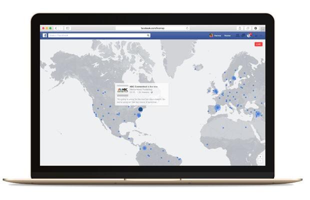 Mapa do Facebook Live mostrará as transmissões ao vivo mais populares de mais de 60 países. (Foto: Divulgação/Facebook)