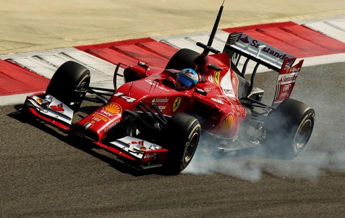 fernando alonso ferrari testes Bahrein (Foto: Agência Getty Images)