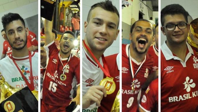 Rafinha, Felipinho, Rafa, Mauricinho e Thiago Chinelatto deixam o Sorocaba Futsal (Foto: Reprodução/ Instagram)
