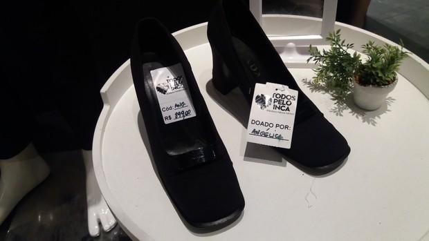 Sapato Angélica (Foto: Anderson Borde/EGO)