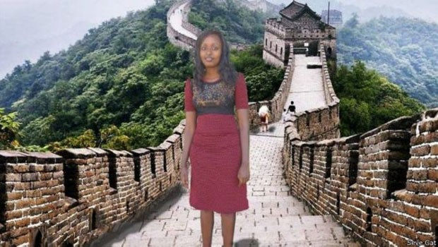 Um dos sonhos 'realizados' por Seve Gat: visitar a Muralha da China (Foto: BBC/Seve Gat)