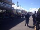 No AP, manifestação de vigilantes acaba em confronto com a polícia