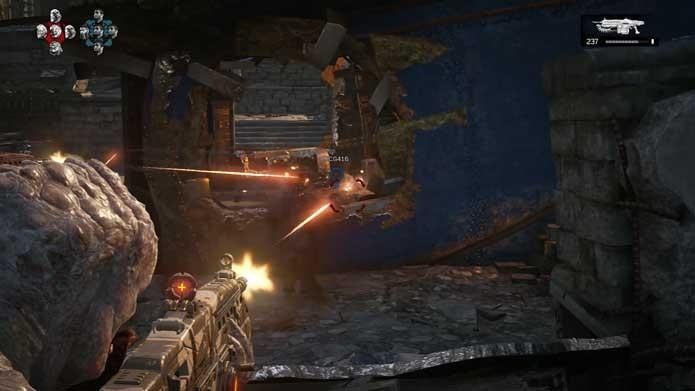 Detone inimigos sem morrer em Gears of War 4 (Foto: Reprodução/Murilo Molina)