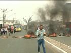 Manifestação de vigilantes interdita Avenida Kennedy em São Luís