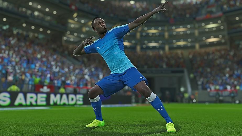 PES 2018 terá Usain Bolt como atleta jogável no game