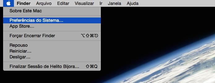 Acesse as configurações do OS X (Foto: Reprodução/Helito Bijora)